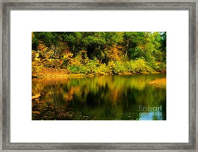 Reflection Of Autumn Colors Framed Print