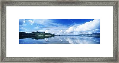 Reflection Of Clouds In Water, Lough Framed Print by The Irish Image Collection