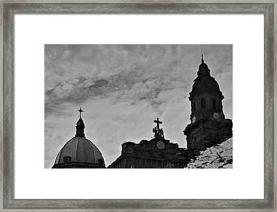 Reflection Of Faith Framed Print by Arj Munoz