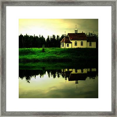 Reflection Of Faith  Framed Print by Empty Wall