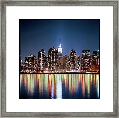 Reflection Of Skyline Framed Print by Shi Xuan Huang Photography