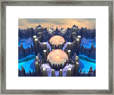 Reflection Of Three Spheres Framed Print by Phil Perkins