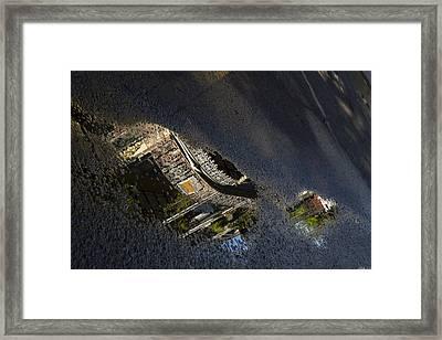 Reflection On Burbon St. Framed Print