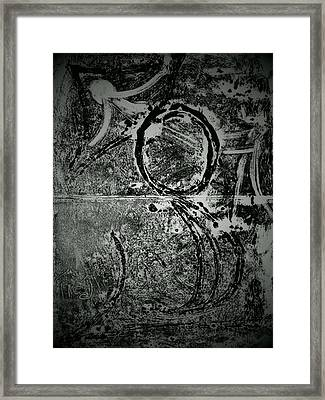 Reflection On The Crusification Framed Print by Coin Iruebenebe