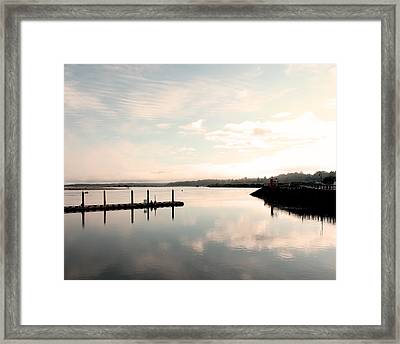 Reflection Framed Print by Shandel  Gauthier