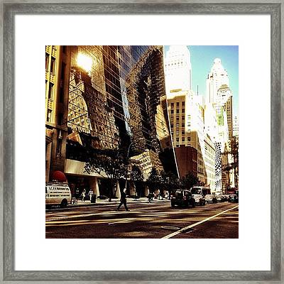 Reflections - New York City Framed Print