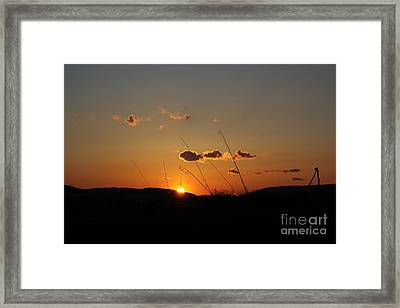 Framed Print featuring the photograph Reflections At Dusk by Everett Houser