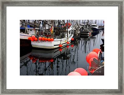 Reflections At French Creek Framed Print by Bob Christopher
