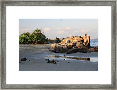 Reflections At Station 12 Framed Print