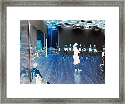 Framed Print featuring the photograph Reflections In A Downtown Window by Louis Nugent