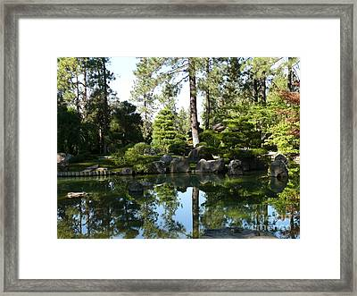 Reflections In A Japanese Garden Framed Print