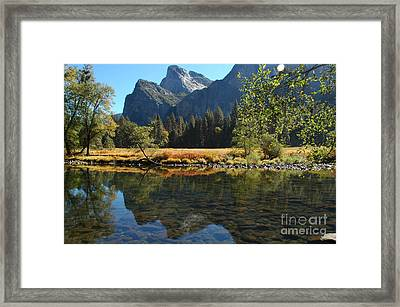 Framed Print featuring the photograph Reflections In Autumn by Johanne Peale
