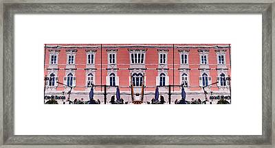 Framed Print featuring the photograph Reflections In The Grand Canal by Graham Hawcroft pixsellpix