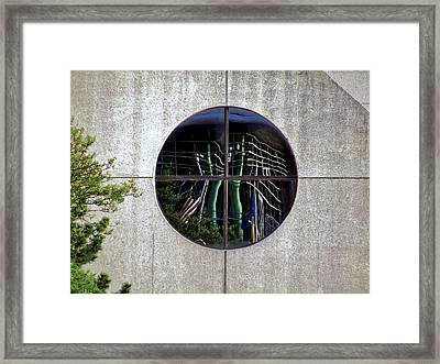 Reflections In The Round Framed Print by Richard Gregurich