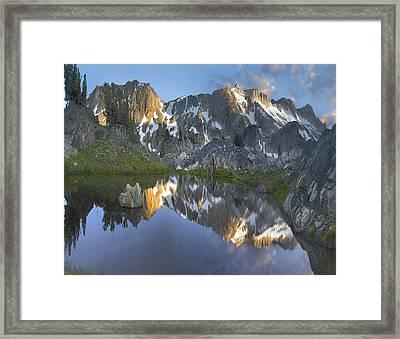 Reflections In Wasco Lake Twenty Lakes Framed Print