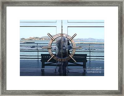 Reflections Of Alcatraz Island At The Maritime Museum In San Francisco California . 7d14080 Framed Print