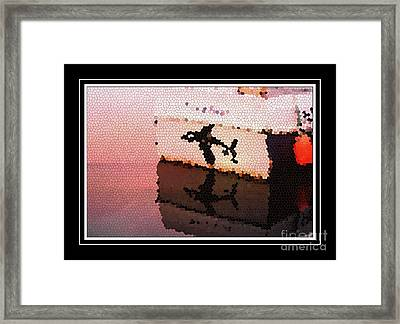 Reflections Of An Orca In Stained Glass Framed Print by Barbara Griffin