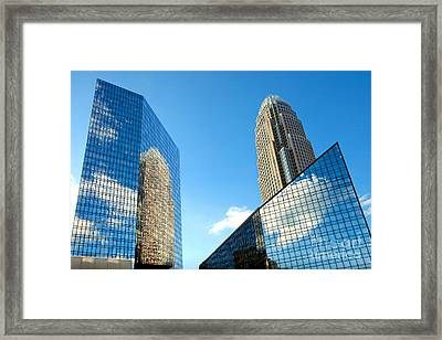 Reflections Of Bank Of America Tower Framed Print by Patrick Schneider