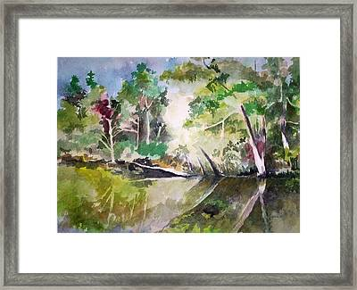 Framed Print featuring the painting Reflections Of Blackwater River Fl. by Richard Willows