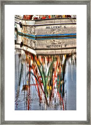 Reflections Of Darien Framed Print