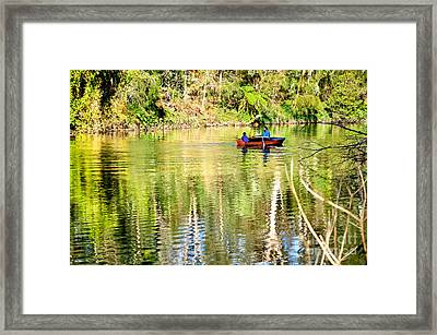 Reflections Of Fathers' Day Framed Print by Kaye Menner