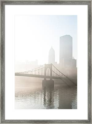 Reflections Of Industry Framed Print by Jason Heckman