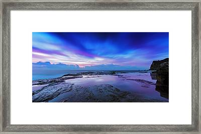 Reflections Of Pink And Blue Framed Print