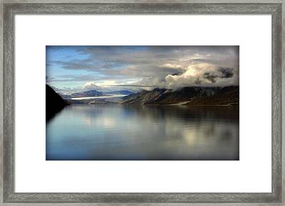 Reflections Of Stillness Framed Print by Karen Wiles