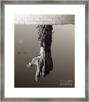 Reflections Of The Past Framed Print by Raymond Earley