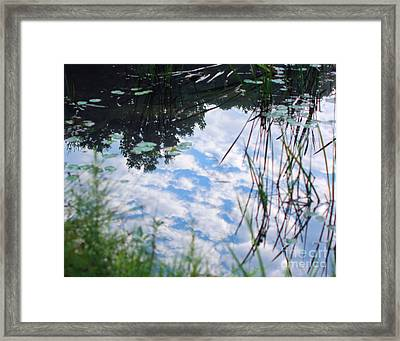 Reflections Of The Sky Framed Print by Smilin Eyes  Treasures