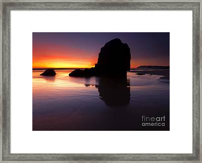 Reflections Of The Tides Framed Print by Mike  Dawson