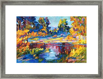 Reflections On A Quiet Lake Framed Print by David Lloyd Glover