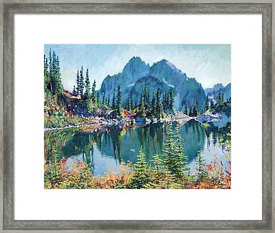Reflections On Gem Lake Framed Print by David Lloyd Glover