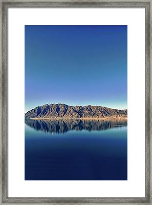 Reflections On Lake Hawea Framed Print by Verity E. Milligan