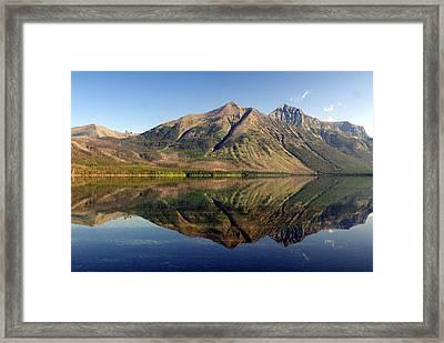Reflections On Lake Mcdonald Framed Print by Marty Koch