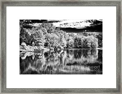 Reflections On The Lake Framed Print by John Rizzuto
