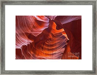 Reflections On The Rock Framed Print by Bob and Nancy Kendrick