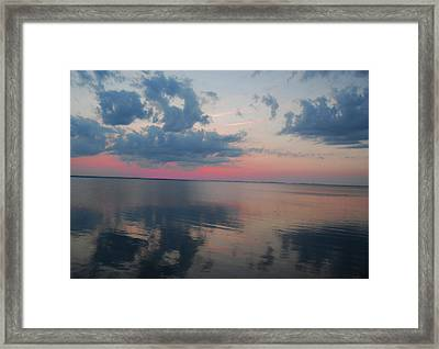 Reflections On The Sound Framed Print by Linda Mesibov