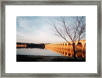 Reflections On The Susquehanna Framed Print by Ed Golden