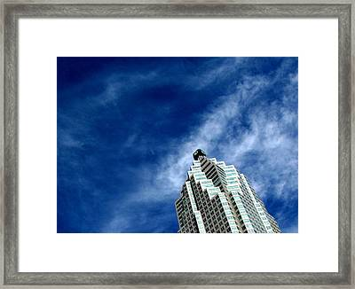 Reflections On The Tower 5  Framed Print by Lyle Crump