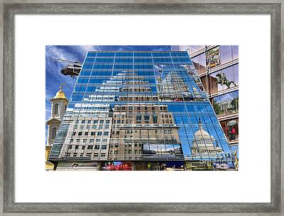 Reflections On Washington Framed Print by Jim Moore