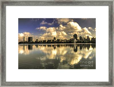Reflections Over East Side  Framed Print