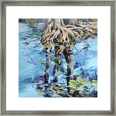 Framed Print featuring the painting Reflections by Rae Andrews