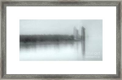 Reflections Through The Fog Framed Print by Rod Wiens
