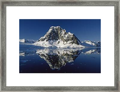 Reflections With Ice Framed Print