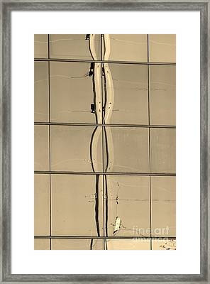 Refracted Reflection Sepia Framed Print by Lynda Dawson-Youngcalus