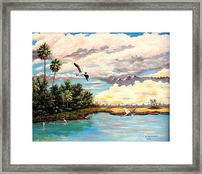 Refreshed By The Rain Framed Print by Riley Geddings