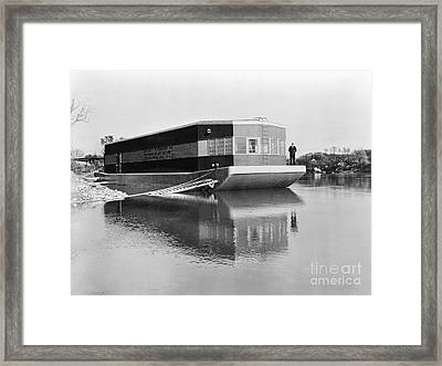 Refrigerated Barge, C1935 Framed Print by Granger