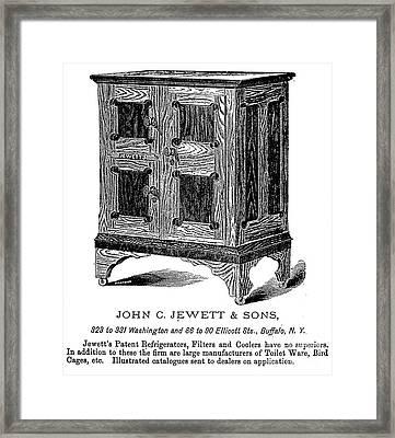 Refrigerator, 1876 Framed Print