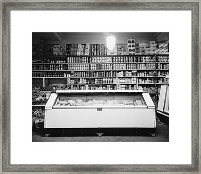 Refrigerator For Perishable Meat Framed Print by Everett